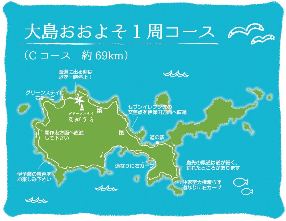 大島おおよそ1周コース